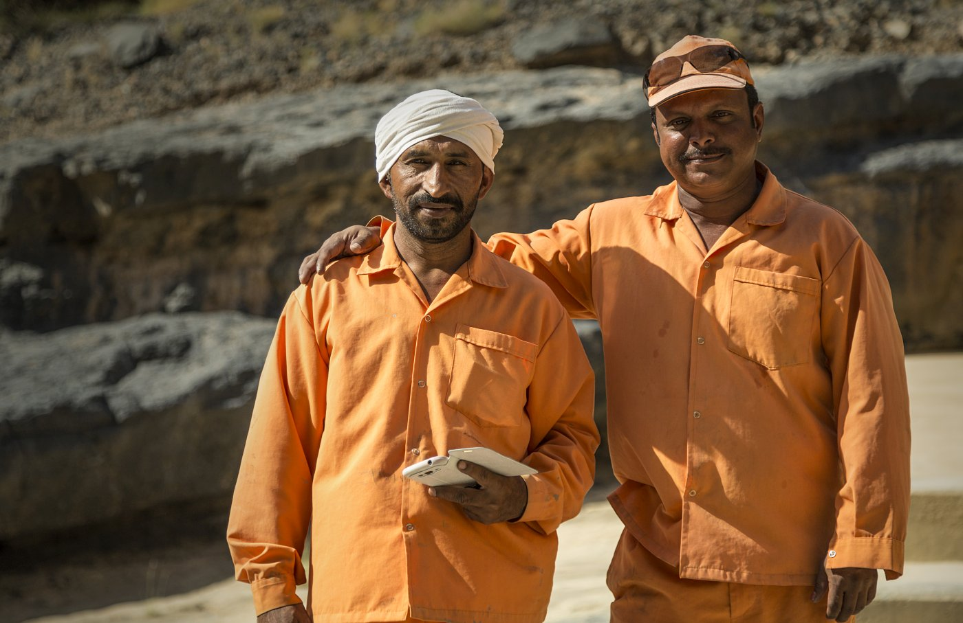 Omani dam workers